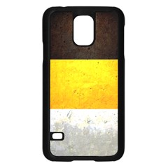 Wooden Board Yellow White Black Samsung Galaxy S5 Case (black) by Mariart