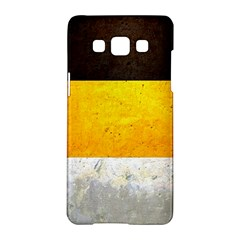 Wooden Board Yellow White Black Samsung Galaxy A5 Hardshell Case  by Mariart