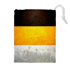 Wooden Board Yellow White Black Drawstring Pouches (extra Large) by Mariart