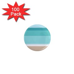 Dachis Beach Line Blue Water 1  Mini Magnets (100 Pack)  by Mariart