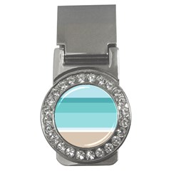 Dachis Beach Line Blue Water Money Clips (cz)  by Mariart