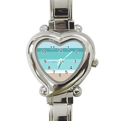 Dachis Beach Line Blue Water Heart Italian Charm Watch by Mariart