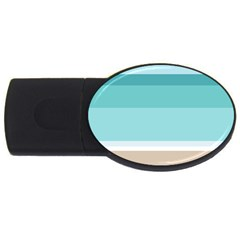 Dachis Beach Line Blue Water Usb Flash Drive Oval (4 Gb) by Mariart