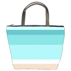 Dachis Beach Line Blue Water Bucket Bags by Mariart