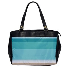 Dachis Beach Line Blue Water Office Handbags by Mariart