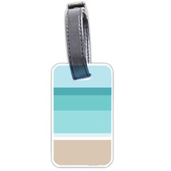 Dachis Beach Line Blue Water Luggage Tags (two Sides) by Mariart