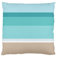 Dachis Beach Line Blue Water Large Cushion Case (one Side) by Mariart