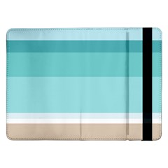 Dachis Beach Line Blue Water Samsung Galaxy Tab Pro 12 2  Flip Case by Mariart
