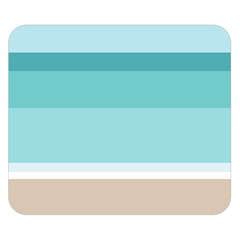 Dachis Beach Line Blue Water Double Sided Flano Blanket (small)  by Mariart