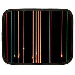 Fallen Christmas Lights And Light Trails Netbook Case (xl)  by Mariart