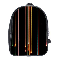 Fallen Christmas Lights And Light Trails School Bags(large)
