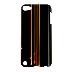 Fallen Christmas Lights And Light Trails Apple Ipod Touch 5 Hardshell Case by Mariart