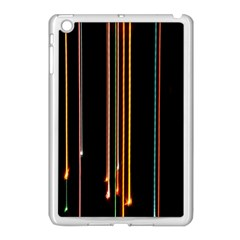 Fallen Christmas Lights And Light Trails Apple Ipad Mini Case (white) by Mariart