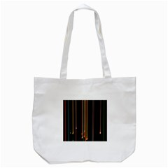 Fallen Christmas Lights And Light Trails Tote Bag (white) by Mariart