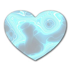 Blue Patterned Aurora Space Heart Mousepads by Mariart