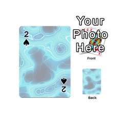 Blue Patterned Aurora Space Playing Cards 54 (mini)  by Mariart
