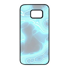 Blue Patterned Aurora Space Samsung Galaxy S7 Edge Black Seamless Case by Mariart