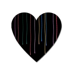 Falling Light Lines Perfection Graphic Colorful Heart Magnet by Mariart
