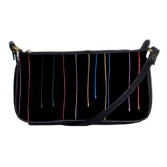 Falling Light Lines Perfection Graphic Colorful Shoulder Clutch Bags by Mariart