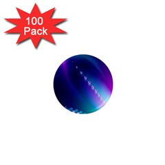 Flow Blue Pink High Definition 1  Mini Magnets (100 Pack)