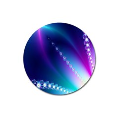 Flow Blue Pink High Definition Magnet 3  (round) by Mariart