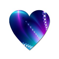 Flow Blue Pink High Definition Heart Magnet by Mariart