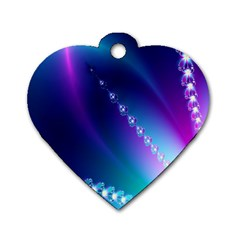 Flow Blue Pink High Definition Dog Tag Heart (two Sides) by Mariart