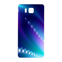 Flow Blue Pink High Definition Samsung Galaxy Alpha Hardshell Back Case by Mariart