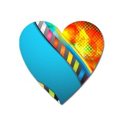 Color Dream Polka Heart Magnet by Mariart
