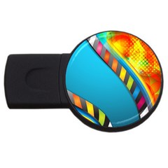 Color Dream Polka Usb Flash Drive Round (4 Gb) by Mariart