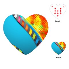 Color Dream Polka Playing Cards (heart)  by Mariart