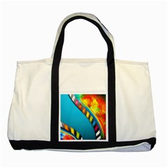 Color Dream Polka Two Tone Tote Bag by Mariart