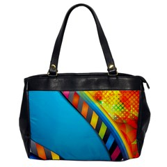 Color Dream Polka Office Handbags by Mariart