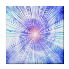 Creation Light Blue White Neon Sun Tile Coasters by Mariart