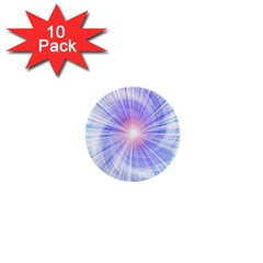 Creation Light Blue White Neon Sun 1  Mini Buttons (10 Pack)  by Mariart
