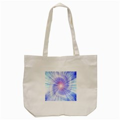 Creation Light Blue White Neon Sun Tote Bag (cream) by Mariart