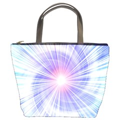 Creation Light Blue White Neon Sun Bucket Bags by Mariart