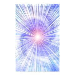 Creation Light Blue White Neon Sun Shower Curtain 48  X 72  (small)