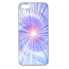 Creation Light Blue White Neon Sun Apple Seamless Iphone 5 Case (clear) by Mariart