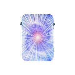 Creation Light Blue White Neon Sun Apple Ipad Mini Protective Soft Cases by Mariart