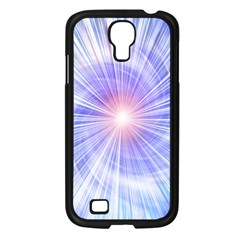 Creation Light Blue White Neon Sun Samsung Galaxy S4 I9500/ I9505 Case (black) by Mariart