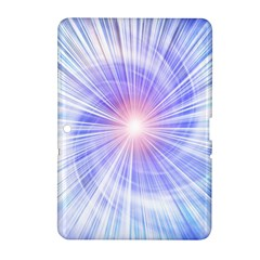 Creation Light Blue White Neon Sun Samsung Galaxy Tab 2 (10 1 ) P5100 Hardshell Case  by Mariart