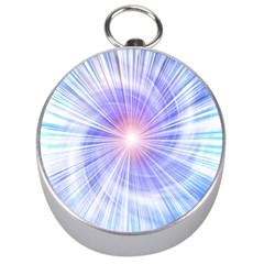 Creation Light Blue White Neon Sun Silver Compasses by Mariart