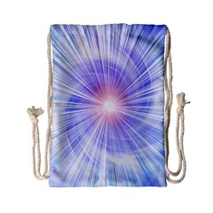 Creation Light Blue White Neon Sun Drawstring Bag (small) by Mariart