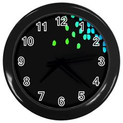 Green Black Widescreen Wall Clocks (black)