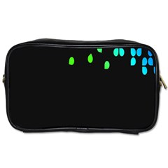 Green Black Widescreen Toiletries Bags 2 Side by Mariart