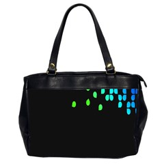 Green Black Widescreen Office Handbags (2 Sides)  by Mariart