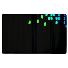 Green Black Widescreen Apple Ipad 3/4 Flip Case by Mariart