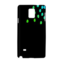 Green Black Widescreen Samsung Galaxy Note 4 Hardshell Case by Mariart