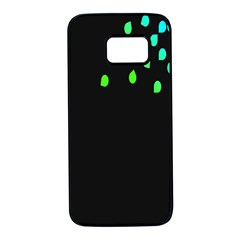 Green Black Widescreen Samsung Galaxy S7 Black Seamless Case by Mariart